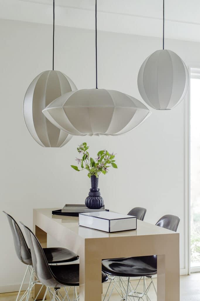 lampskärm sidenlampa handgjord indochina