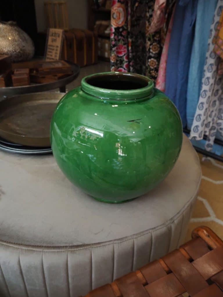unik vintage kruka vas grön inredning