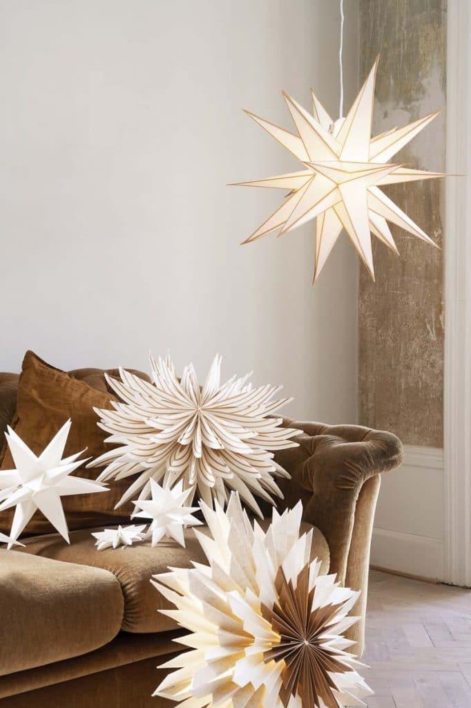 julstjärnor julstjärna Marta 60 brun watt & veke