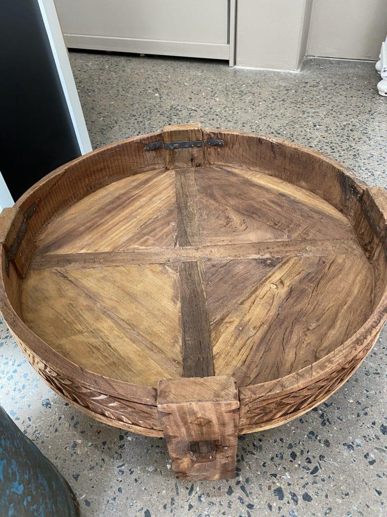 Chakki bord grinder table soffbord vintage unikt