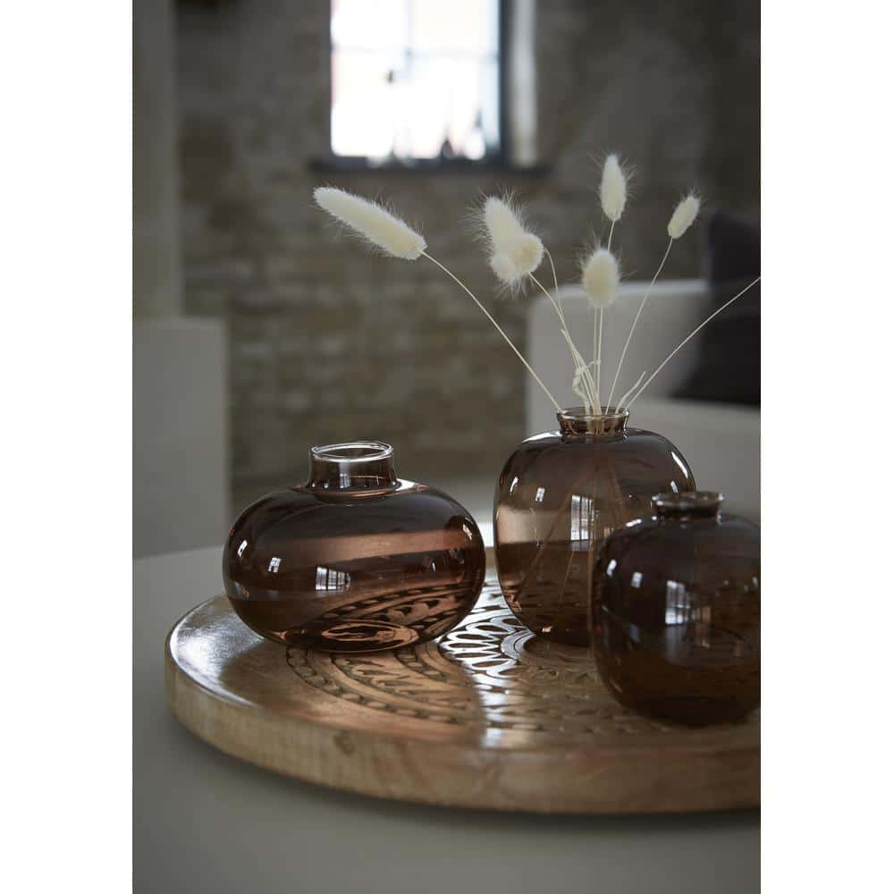 wikholm glasvas mini set brun inredning trend boho