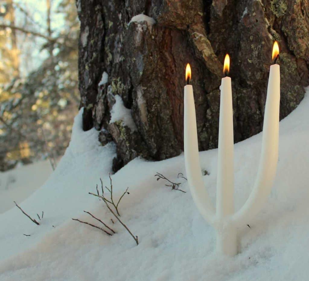 Julljus grenljus ljus handstöpt